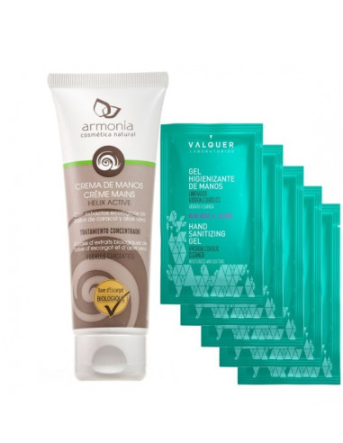Snail hand cream Helix Active with hand sanitizer gel